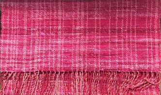 "red/pink shawl 68"" x 27"" $100"